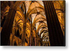 Barcelona - The Cathedral 2 Metal Print by Andrea Mazzocchetti