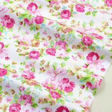 1591467, 50 cm * 150 cm flores de tela de algodón serie, diy hechos a mano patchwork paño de algodón textil del hogar envío gratis(China (Mainland))
