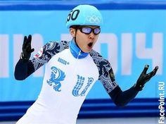 Виктор Ан в Сочи 2014 побеждает в шорт-треке. Видео