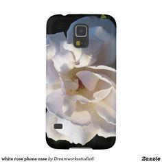 white rose phone case