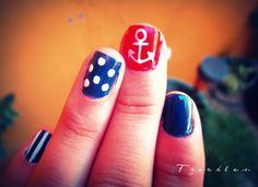 Nautical nails  Mi diseño de uñas estilo marinero