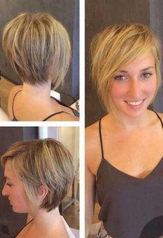Layered Short Bob Cut Hair for Women