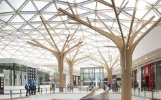 Shared by Motorcycle Fairings - Motocc Tree Structure, Landscape Structure, Timber Structure, Shade Structure, Mall Design, Roof Design, Ceiling Design, Wood Architecture, Architecture Details