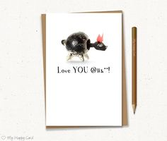 """Love card - Printable - 4""""X6"""" Digital file - Instant download - (Animonster) - relationship card, for him, for her, anniversary card"""