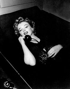 Marilyn on the set of '' Don't Bother To Knock'', 1952.