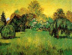 Vincent Van Gogh - Post Impressionism - Arles - Le jardin du poète 1.
