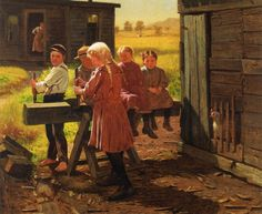 Pinturas estadounidenses del siglo 19: John George Brown, ctd