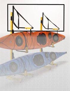 3-Boat Free-Standing by Suspenz Kayak, Canoe & SUP Storage Racks - Paddling.net