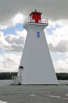 Mabou Harbour Lighthouse, Gulf of Saint Lawrence, Nova Scotia, Canada. The lighthouse is owned by the Canadian Coast Guard. built in 1884