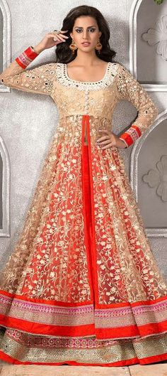 155631BRIDAL WEAR - this sheer #lehenga comes with flat 10% off. It has MIRROR WORK, wow! Check it out!  #WeddingCouture