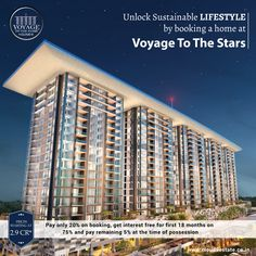 Unlock #SustainableLifestyle by booking a home at #VoyageToTheStars located in #Pune, your perfect #KeyToHappiness with sustainably designed residences. Learn More http://www.cloud9estate.co.in #WorldClassLiving #PremiumProperties #LuxuriousHomes #NibmRoad