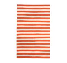 rug in stripes
