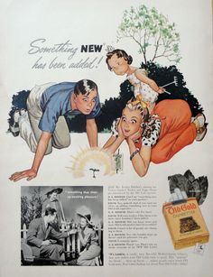 1942 Ad - Old Gold Cigarettes - 'Something new has been added!'