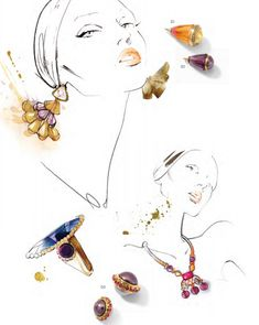 Glamour Jewelry Inspiration Swarovski Elements Fashion and Color Trends