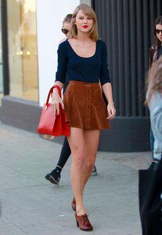 Le look de Taylor Swift                                                                                                                                                     Plus