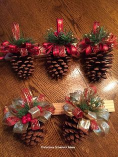 Christmas Decor Diy Cheap, Christmas Ornament Crafts, Christmas Projects, Simple Christmas, Holiday Crafts, Christmas Diy, Christmas Wreaths, Reindeer Christmas, Beautiful Christmas