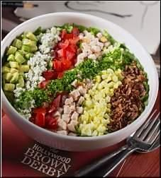 Cobb Salad Recipe served at Hollywood Brown Derby in Hollywood Studios at Disney World
