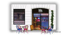 Latina, Facade, Madrid, Watercolor, Store, Illustration, Gourmet, Illustrations, Life