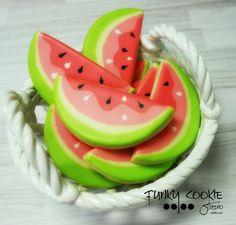 Watermelon cookies by Funky Cookie Studio