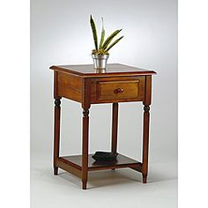 @Overstock - Update you home or office decor with this accent table    Furniture features antique cherry finish  Table is made of solid wood and veneerhttp://www.overstock.com/Home-Garden/Office-Star-Knob-Hill-Accent-Table/3712965/product.html?CID=214117 $80.06