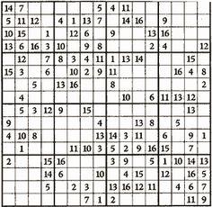 Free printable Hexadecimal Sudoku Puzzles by Krazydad