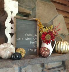 Hey, I found this really awesome Etsy listing at https://www.etsy.com/listing/462477344/wood-framed-sign-gratitude-turns-what-we