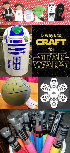 5 Ways to Craft for Star Wars ~ Do you have a Star Wars lover in your life? If so, check out these five fun Star Wars crafts that are fun for both kids and adults!