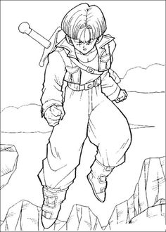 Dragon Ball Trunks Coloring Pages