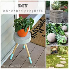 Easy Concrete Projects | Outdoor Concrete Projects