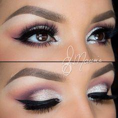 Sliver and Purple Eye Shadow #WeddingMakeup