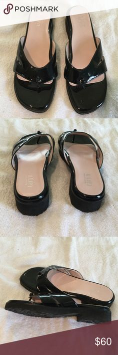 Taryn ortho black leather patent sandals Taryn by Taryn Rose orthopedic black patent leather sandals. NWOT. These shoes are made by an Orthopedic doctor and are the most comfortable shoes EVER and yet still very stylish. Taryn Shoes Sandals