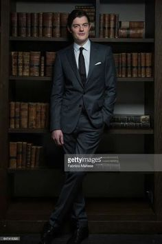 Sam ridley in Library photoshoot