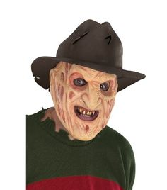 Rubies Costume A Nightmare On Elm Street Latex Freddy Mask with Attached Hat Brown One Size @ niftywarehouse.com