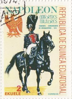 Stamp: General of the Grenadiers (Equatorial Guinea) (Napoleonic Military Uniforms) Mi:GQ 1194,Sn:GQ 77-111,Yt:GQ 110P