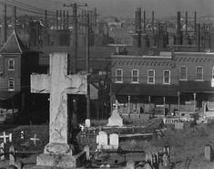 Bethlehem Pennsylvania, graveyard, houses, steelmill