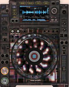 Pioneer CDJ 2000 Remix Art Contest Djs love art too and artists love music. Pioneer Cdj 2000, Pioneer Dj, Dj Setup, Dj Gear, Dj Party, Dj Remix, Dj Booth, Dj Equipment, Music Production