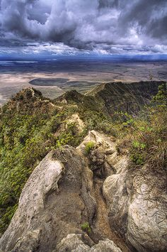 Rift valley from Mt. Longonot (by Adam Costanza).  I climbed that many times and went around the rim several times too.