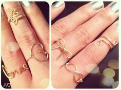 DIY wired rings