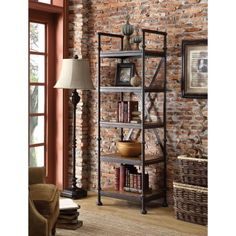What I love: The metal open shelving unit. Thinking of using it at the door near the reception. What say?