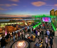 Altitude, San Diego America's Best Outdoor Bars Altitude Sky Lounge is an open-air bar on the rooftop of the 22-story San Diego Marriott Gaslamp Quarter. Views of the city's skyline are the main attraction at this bar