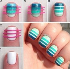 gorgeous blue nail art