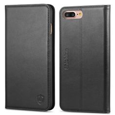 iPhone 8 Plus Case, iPhone 7 Plus Case, SHIELDON Genuine Leather iPhone 8 Plus Wallet Case Book Design with Flip Cover and [Credit Card Slot] Magnetic Closure for iPhone 8 Plus / iPhone 7 Plus - Black Iphone 8 Plus, Cases Iphone 6, Iphone 5s, Apple Iphone, Leather Case, Leather Wallet, Best Iphone, Iphone Accessories, Ipad Mini