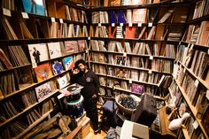 Questlove and other obsessive record collectors are chronicled in Eilon Paz's Dust & Grooves, a photography and interview project Vinyl Record Store, Vinyl Record Collection, Vinyl Records, 78 Records, Vinyl Storage, Record Storage, Lp Storage, Dj Music, I Love Music