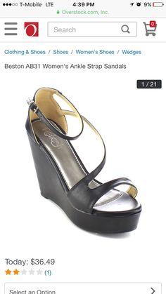 f558a48f1f Refresh Women'S Ankle Strap Closed Back Comfort Platform Wedge Sandals