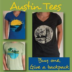 Buy a unique local t-shirt from oaklifestyle.com and give a backpack to a child in need