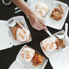 'Cause our little kiddo wants one. Ended up having same lunch. Fried chickens with rice from Jollibee.