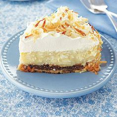 Thanksgiving recipes: Coconut cream pie with chocolate and toasted coconut.