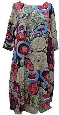 "Bella blue Lagenlook Quirky layering dress plus Sizes: S/M- L/XL Bust:44-52"""