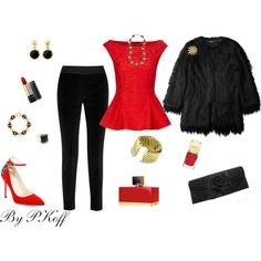 Evening Attire, created by pkoff on Polyvore