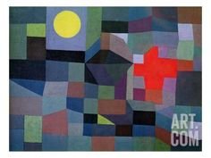 Fire, Full Moon, 1933 Giclee Print by Paul Klee at Art.com